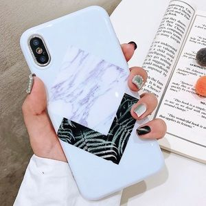 Accessories - iPhone X/XS/MAX/7+/8+/7/8  Marble Geometric Case